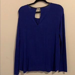 Tops - Long sleeve rayon VNeck Ella moss blouse